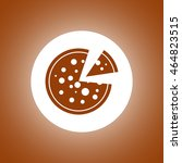 pizza web icon. flat design... | Shutterstock .eps vector #464823515