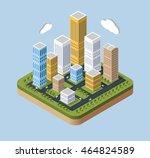 skyscrapers and buildings | Shutterstock . vector #464824589