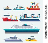 boats and ships | Shutterstock .eps vector #464828531