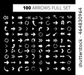 arrow icon full set. it can be... | Shutterstock .eps vector #464830964