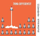 think differently   being... | Shutterstock .eps vector #464844011