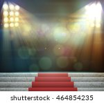 stage lighting background 3d... | Shutterstock . vector #464854235