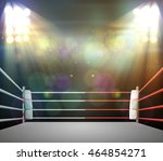 boxing ring with illumination... | Shutterstock . vector #464854271