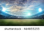 stadium in lights 3d. | Shutterstock . vector #464855255