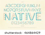 old style alphabet letters and... | Shutterstock .eps vector #464864429