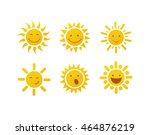 set of sun vector | Shutterstock .eps vector #464876219