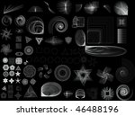collection of lots of different ...   Shutterstock . vector #46488196