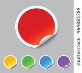 vector stickers | Shutterstock .eps vector #464885789