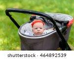 cute baby with headband around... | Shutterstock . vector #464892539