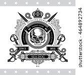 skull front view in center of... | Shutterstock .eps vector #464892734