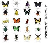 set of twenty color flat... | Shutterstock .eps vector #464896049