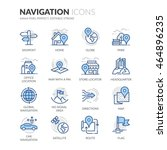 simple set of navigation... | Shutterstock .eps vector #464896235