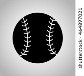 baseball ball icon on the... | Shutterstock .eps vector #464897021