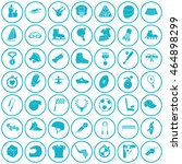 set of forty nine sport icons | Shutterstock .eps vector #464898299