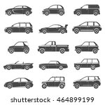 set of black silhouettes... | Shutterstock .eps vector #464899199