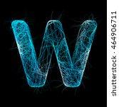 wicker alphabet. neurone... | Shutterstock . vector #464906711