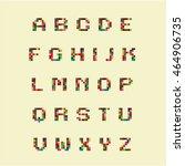 color alphabet terminal   Shutterstock .eps vector #464906735