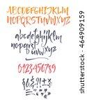 vector calligraphic alphabet... | Shutterstock .eps vector #464909159