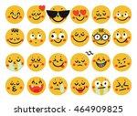 set of emoticons. set of emoji. ... | Shutterstock .eps vector #464909825