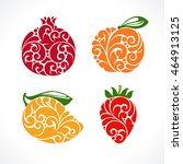 ornamental decorative fruit... | Shutterstock .eps vector #464913125