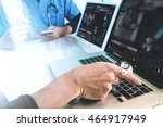 medical technology network team ... | Shutterstock . vector #464917949