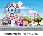 cartoon vector amusement park... | Shutterstock .eps vector #464919401