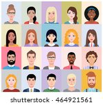 people avatars collection in... | Shutterstock .eps vector #464921561