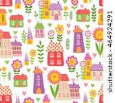 vector seamless pattern with... | Shutterstock .eps vector #464924291