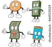 vector set of money cartoon | Shutterstock .eps vector #464925029