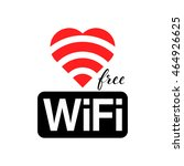 free wifi vector symbol with... | Shutterstock .eps vector #464926625