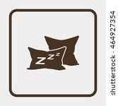 pillow icon. | Shutterstock .eps vector #464927354