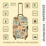 symbols of world attractions in ... | Shutterstock .eps vector #464930435