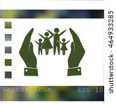 hand and family icon | Shutterstock .eps vector #464933285