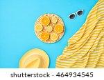fashion. tropical fresh summer... | Shutterstock . vector #464934545