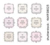 vintage square frames set... | Shutterstock .eps vector #464938025