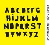 alphabet. hand drawn black... | Shutterstock .eps vector #464943485