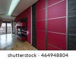 sliding doors wardrobe in red... | Shutterstock . vector #464948804