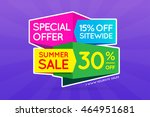 summer sale sign banner poster... | Shutterstock .eps vector #464951681