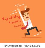 frightened man character.... | Shutterstock .eps vector #464952191
