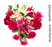 beautiful bouquet of roses and... | Shutterstock . vector #464953439