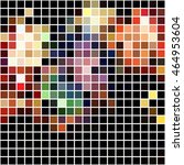 bright colorful mosaic seamless ... | Shutterstock .eps vector #464953604