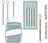 vector set of cotton swab | Shutterstock .eps vector #464957891