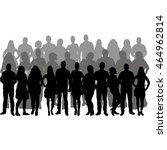 vector  isolated  silhouette... | Shutterstock .eps vector #464962814