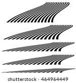 lines in 3d perspective.... | Shutterstock .eps vector #464964449