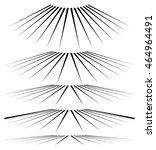 geometric 3d line elements in... | Shutterstock .eps vector #464964491