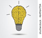 lamp and brain | Shutterstock .eps vector #464964704