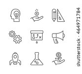 business process icons set ... | Shutterstock .eps vector #464971784