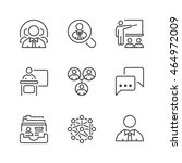 business teamwork icons set ... | Shutterstock .eps vector #464972009