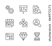 business icons set  thin line ... | Shutterstock .eps vector #464972171