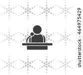 speaker icon. orator speaking... | Shutterstock .eps vector #464975429